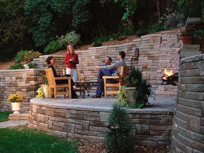 Retaining Wall Project Winchell Residence Sloped Backyard Backyard Retaining Walls Sloped Backyard Landscaping