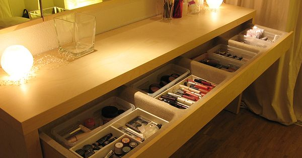 Ikea malm dressing table with a bit of added style - Malm dressing table drawer organizer ...