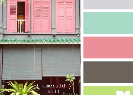 Palette de couleurs autours du vert d 39 eau les petites - Palette de couleur vert ...