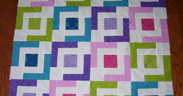Super Easy Beginner Quilt Patterns : Beginner Quilt Pattern - Jaded Chain Quilt Pattern by Jaded Spade Creations -PDF Download More ...