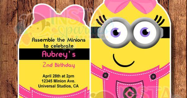 Minion minions birthday party invitations by InstaParties ...