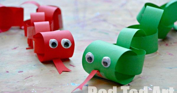 toddler art crafts | chinese new year snake craft for kids, paper