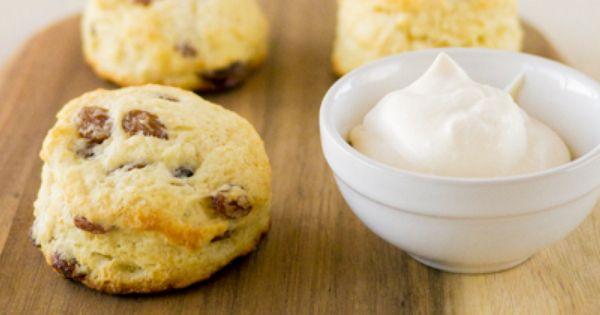 Classic Raisin Scones with Mock Devonshire Cream Recipe | Things I ...