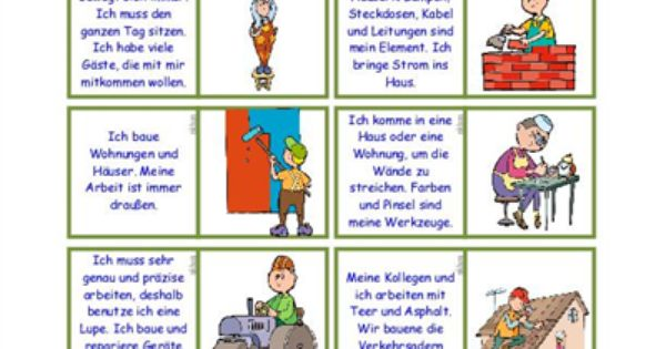 berufe domino arbeitsblatt kostenlose daf arbeitsbl tter home pinterest learn german. Black Bedroom Furniture Sets. Home Design Ideas