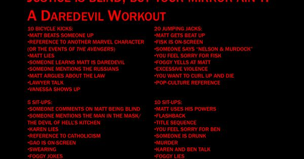 Daredevil workout | TV and Movie Workouts | Pinterest ...