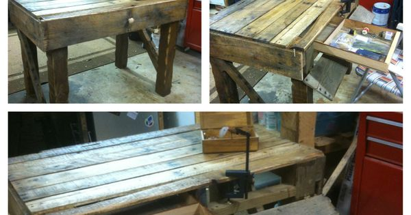 Desk made from pallets scrap wood projects pinterest for Reclaimed wood furniture bend oregon