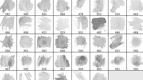 30 Free Watercolor Brush Sets With Images Photoshop Freebies