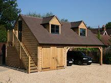 Oak Framed Garages And Annexes In Surrey Sussex Hampshire Uk