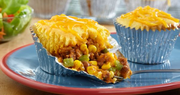 Mini Taco Tamale Pies - I wouldn't use this exact recipe because of ...