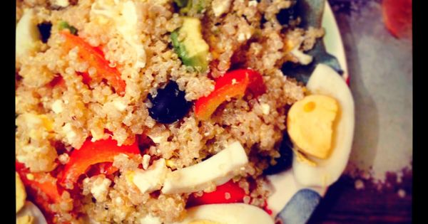 Cheese & Eggs Quinoa Salad | Food | Pinterest | Eggs, Salads and ...
