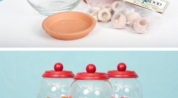 DIY Candy bowl / Mini gumball machine