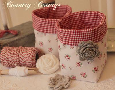 Cestos de tecido patch pinterest cesto tela y cestas - Cestos de tela ...