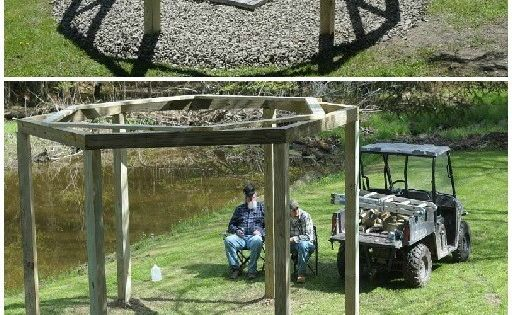 Fantastic Summer DIY Project: Build Swings Around a Campfire ~ I love this idea! When I have my own house, I'll have a firepit and build this.