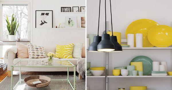 D co verte et jaune tendance tropicale et exotique et for Decoration maison tropicale
