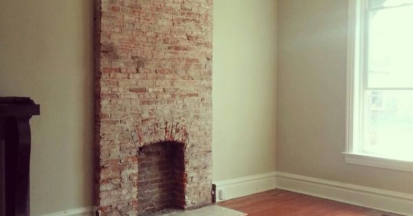 exposed brick fireplace home style pinterest exposed Tudor Fireplace Mantle Brick Brick Fireplace Mantel Designs