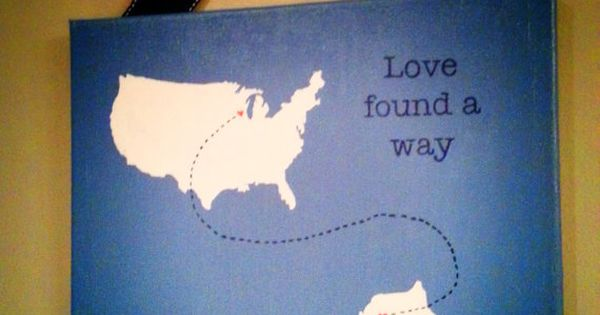 US to South Korea: Love Found A Way, Custom Hand painted travel