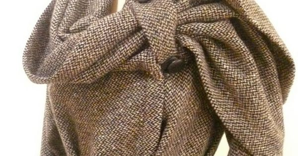 Maria Severyna Black & Tan Tweed Italian Wool Jacket