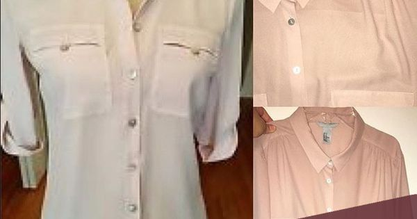H&M Champagne Pink Button Down | Pink, The office and Down shirt