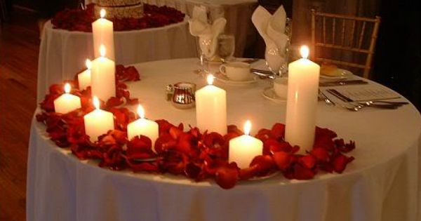 red roses and candles wedding decor head table wedding head tables