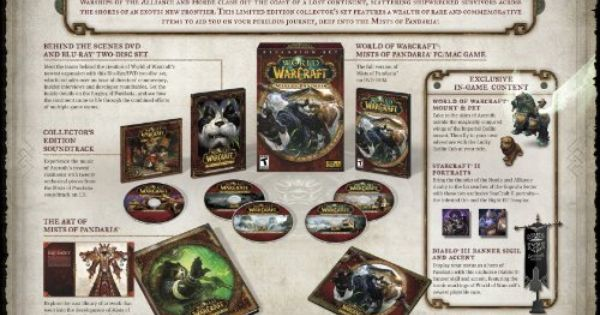 World Of Warcraft Mists Of Pandaria Collector S Edition Http Www Cheapgamesshop Com World Of Warcraft Mists Of Pandaria Collectors Edition Blog