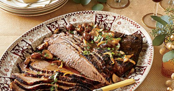 Brisket with Mushroom-and-Onion Gravy - Elegant Holiday Entrée ...