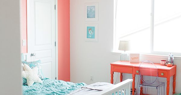 1000 Images About Children S Bedroom Ideas On Pinterest: Girls Bedroom, Coral And Teal