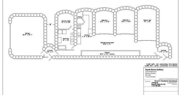 Earthship Home Floor Plans: Floor Plan Of Tire House