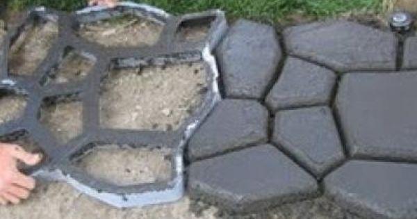 Fun Idea For The Backyard Makeover Using A Cobblestone