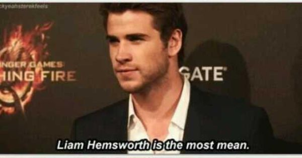 Jennifer Lawrence on mean people liam hemsworth