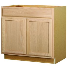 Shop Kitchen Classics 36 In W X 35 In H X 23 75 In D Unfinished Oak Door And Drawer Base Unfinished Kitchen Cabinets Unfinished Cabinets Lowes Kitchen Cabinets