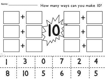 Pin On Tpt Freebies By 1st Grade Salt Life Kindergarten math worksheets making 10