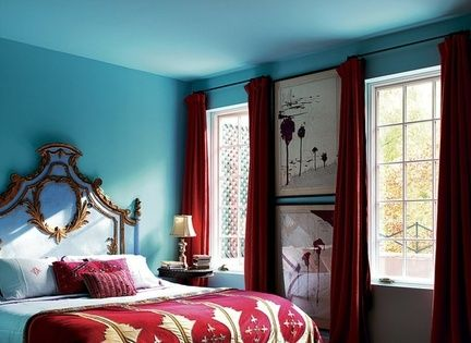 10 Unusual Color Combos That Really Work - Sky Blue and Deep