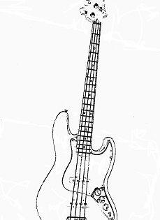 Bass Guitar Outline Desenho De Mulher Negra Tatoo Tatuagens