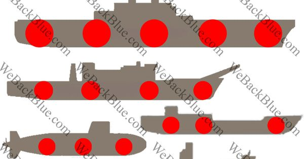 Battleships Style Shooting Targets Rifle Pistol Air