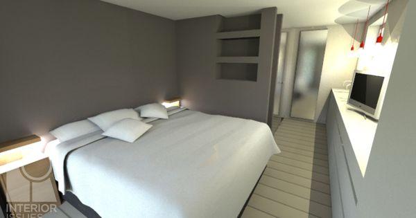 Compacte slaapkamer met walk in douche some of our projects pinterest slaapkamer badkamer - Idee ouderlijke slaapkamer met badkamer ...