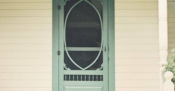 Beautiful screen door for the back you know the kind for Beautiful back doors