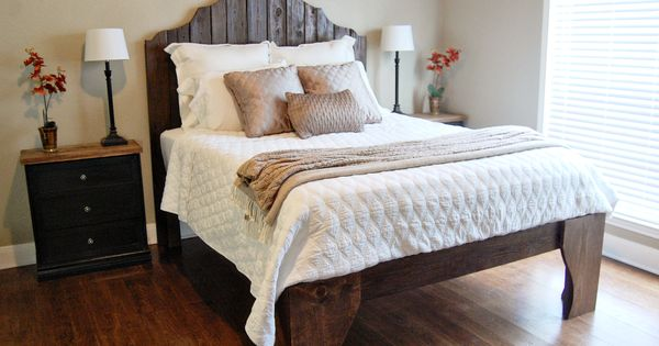 Rustic Wood Bed From Fence Posts, The Accent Piece on Remodelaholic