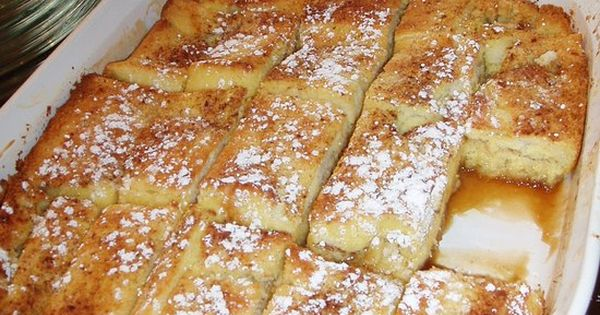 Yummy French Toast Bake Ingredients 1 loaf French bread (13 to 16 ounces) 8 large eggs 2 cups half-and-half 1 cup milk 2 tablespoons granulated sugar 1 teaspoon vanilla extract 1/4 teaspoon ground cinnamon 1/4 teaspoon ground nutmeg Dash salt Praline Topp...