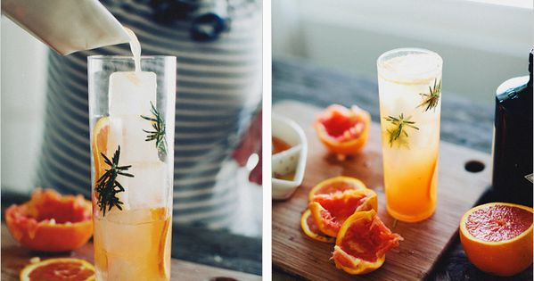 Gin, Sparklers and Blood orange on Pinterest