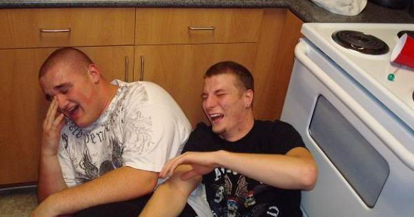 """There's No Laughing Like """"Falling On The Kitchen Floor"""
