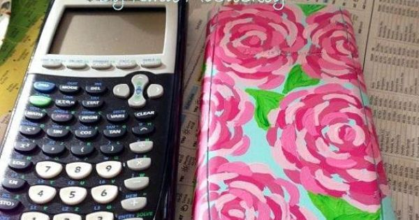 Painted calculator case