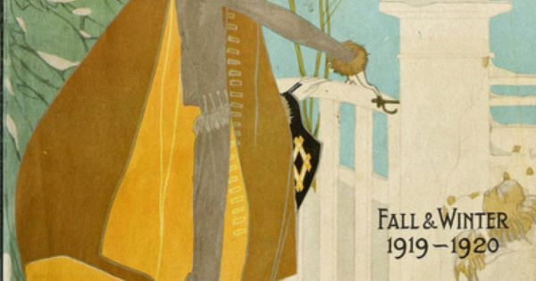 Magazine cover for Perry, Dame & Co. Winter fashion 1919