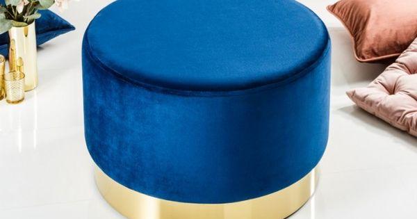 Tabouret Design Baroque De 55cm Coloris Bleu Et Dore Design Baroque Tabouret Design Tabouret