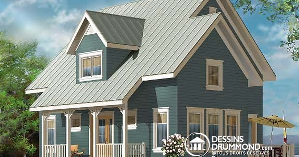 Plan de maison unifamiliale w3519 mod les de maison for Garage plan de campagne