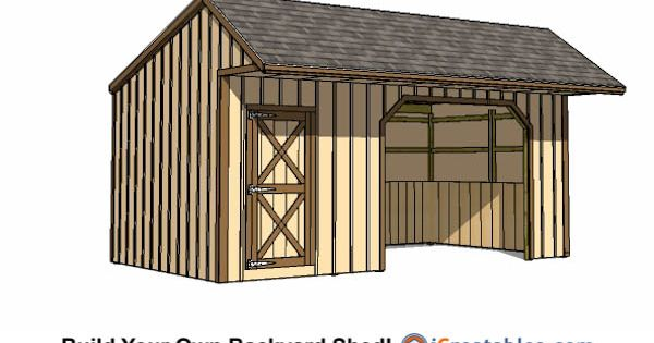 12x22 run in shed with tack room lean to shed plans for Tack shed plans