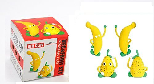 create your 3D cute Banana or anything your mind can imagine Veg /& Fruit Air Dry Clay play-dough kit 2-in-1 fun arts /& craft kid/'s artist toy project Clay modeling and sculpting DIY play-set Little Treasures