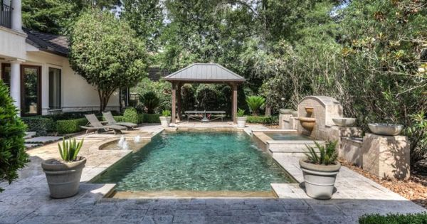 3 1 Million Stone Stucco Home In Spring Tx Outdoor Kitchen Patio Pool Stucco Homes Pool Houses