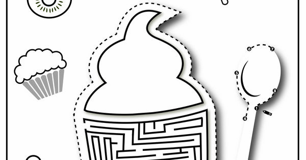 Frozen Yogurt Coloring Pages : Sweetduet frozen yogurt gourmet muffins coloring page
