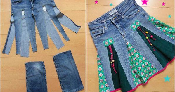du fil et mon diy recycler un vieux jean en jupe couture pinterest vieux jeans le. Black Bedroom Furniture Sets. Home Design Ideas