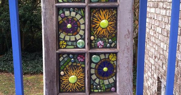Mosaic stained glass window